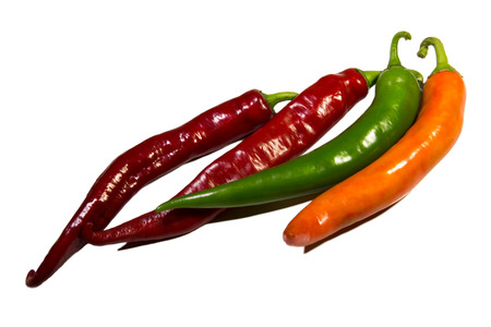 hot peppers: colorful hot peppers
