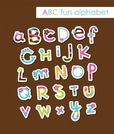 cute childlike alphabet  vector illustration Stock Vector - 20562464