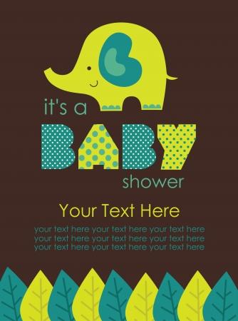 honoring: cute baby shower design. vector illustration