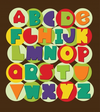 graphic element: fun alphabet design. vector illustration