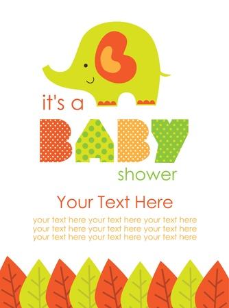 baby shower boy: cute baby shower design. vector illustration