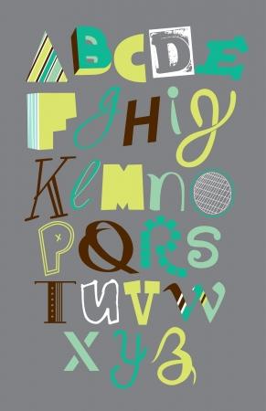 cute alphabet design. vector illustration Vector