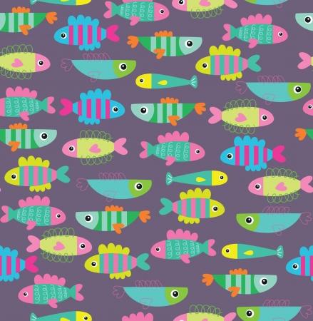 saltwater fish: senza soluzione di disegno di struttura sott'acqua. illustrazione vettoriale