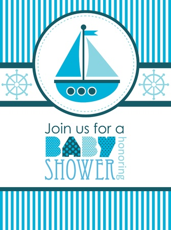 baby shower. sea design. vector illustration Vector