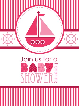 baby shower. sea design. vector illustration Vector