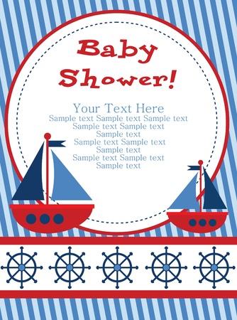 welcome smile: dise?o de tarjeta de baby shower. ilustraci?n vectorial