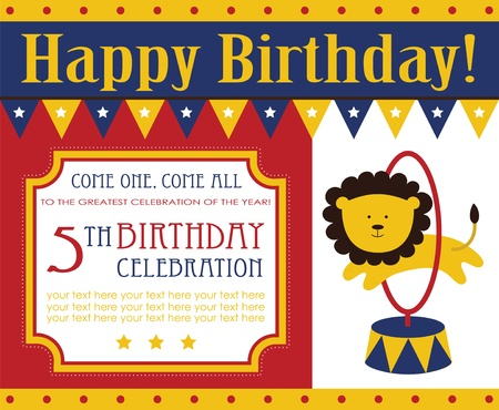 Kid birthday invitation card design vector illustration royalty kid birthday invitation card design vector illustration vector filmwisefo Gallery