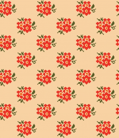 cute floral pattern design. vector illustration Vector