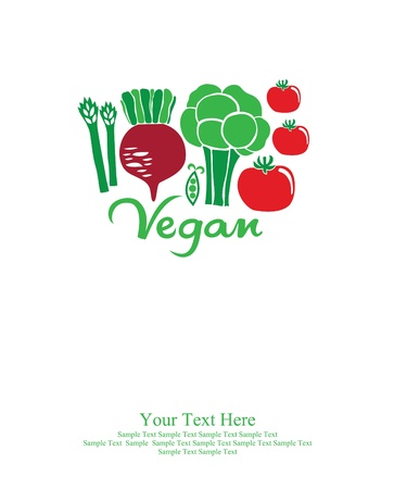 vegan card design. vector illustration Vector