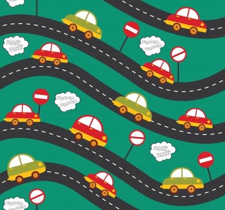 car seamless pattern design. vector illustration Vector