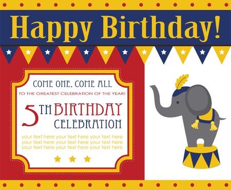 birthday invitation card design for kids