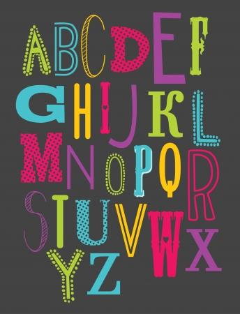 cute alphabet design. vector illustration