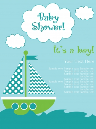 baby shower card design. vector illustration Vector