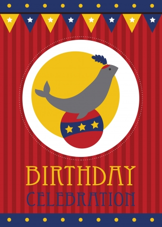 kid happy birthday card design. vector illustration Vector