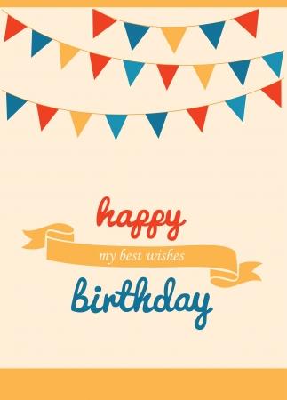 honoring: happy birthday greeting card. vector illustration Illustration