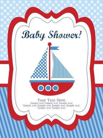 Baby shower card design. Vektor-Illustration Standard-Bild - 20562635