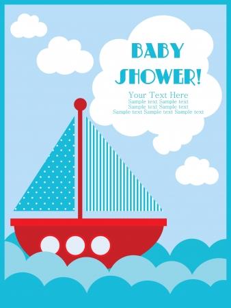 cute baby girls: baby shower card design. vector illustration
