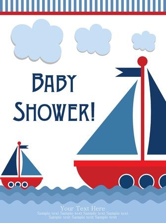 sweet baby girl: dise?o de tarjeta de baby shower. ilustraci?n vectorial
