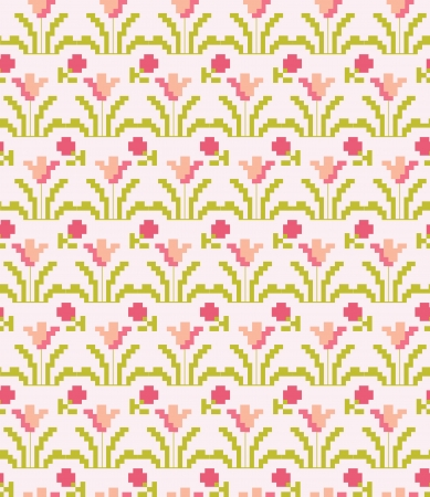 cross country: cute floral pattern design. vector illustration