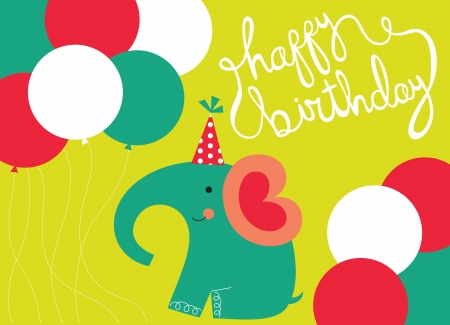 happy birthday greeting card. vector illustration Vector