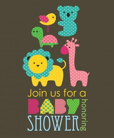 girl shower: dise?o de la ducha del beb?. ilustraci?n vectorial
