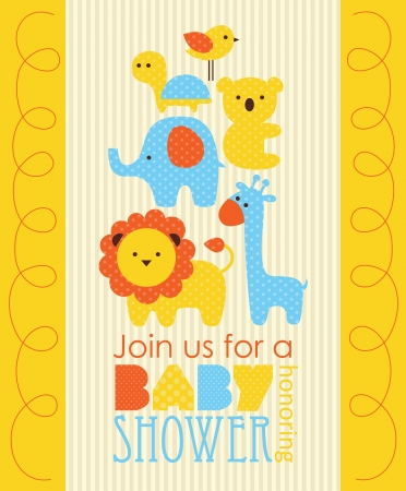 baby shower design. vector illustration Ilustracja