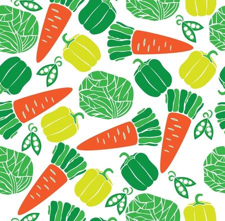 Repollo: vegetales patr�n. ilustraci�n vectorial Vectores