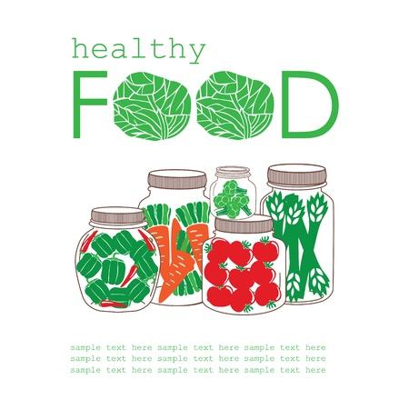 tarjeta de estilo de vida saludable. ilustraci?n vectorial Ilustración de vector