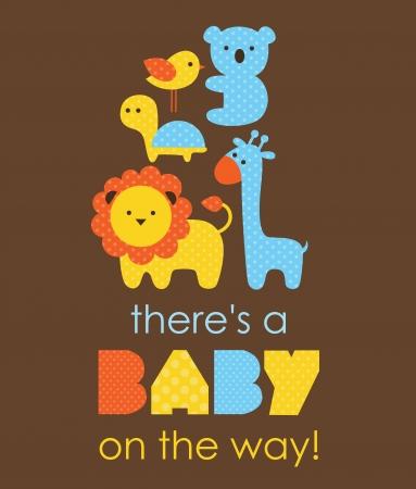 welcome smile: dise?o de la ducha del beb?. ilustraci?n vectorial