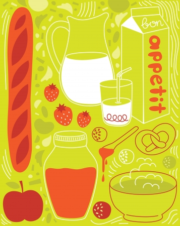 my cute breakfast card design. vector illustration Stock Vector - 20561188