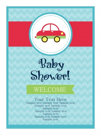 baby shower card design. vector illustration Stock Vector - 20560814
