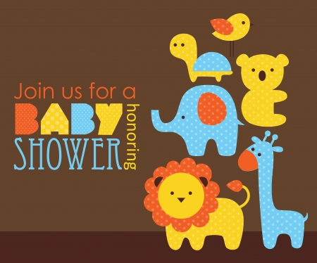 honoring: baby shower design. vector illustration Illustration