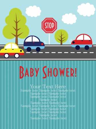 cute baby boy: baby shower card design. vector illustration