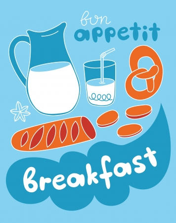 my cute breakfast card design. vector illustration Stock Vector - 20560686