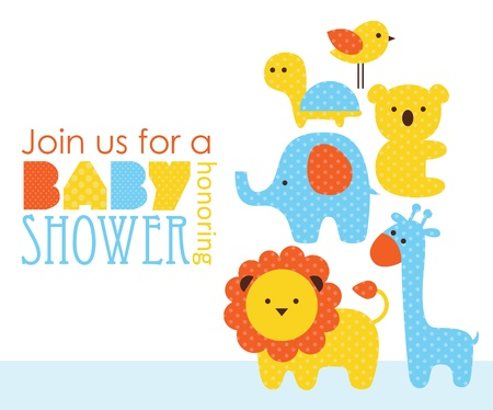 shower: baby shower design. vector illustration Illustration