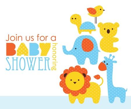 invitacion baby shower: dise?e la ducha del beb?ilustraci?ectorial