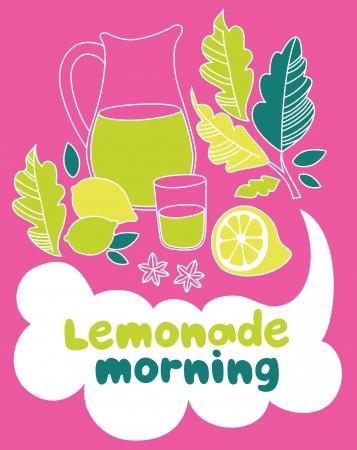lemonade morning card design. vector illustration Stock Vector - 20560740