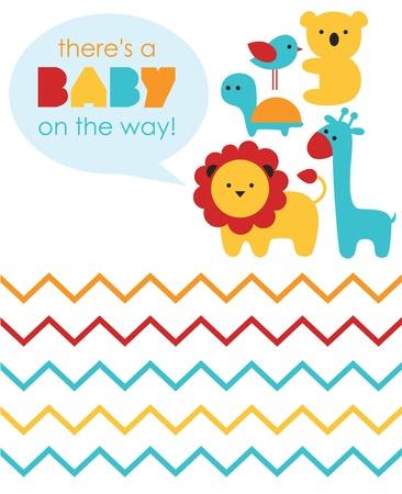 leon bebe: dise?e la ducha del beb?ilustraci?ectorial