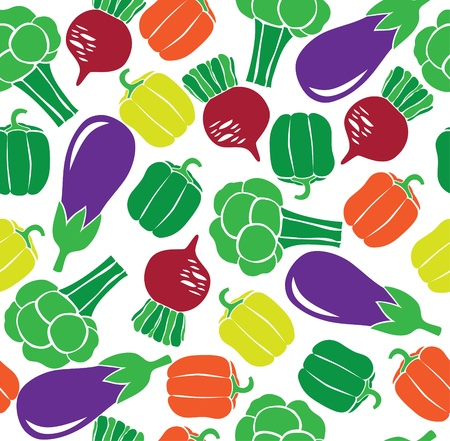 greengrocery: vegetable seamless pattern. vector illustration Illustration