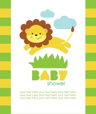 leo: baby shower design. vector illustration Illustration