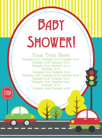 baby shower card design. vector illustration Stock Vector - 20561716