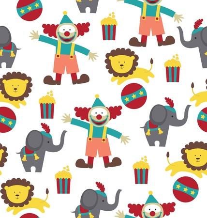 circus pattern design. vector illustration Vector