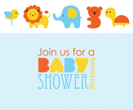 baby elephant: baby shower design. vector illustration Illustration