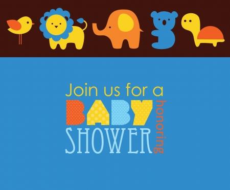 dise?o de la ducha del beb?. ilustraci?n vectorial Ilustración de vector