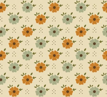 seamless pattern: flower pattern design. vector illustration Illustration