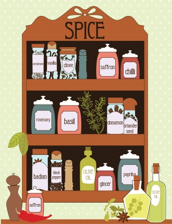 condiment: spice card design. vector illustration