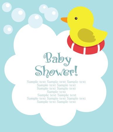 baby animals: fun baby shower card. vector illustration