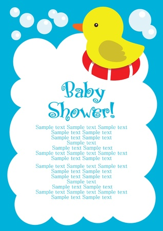 fun baby shower card. vector illustration Vector