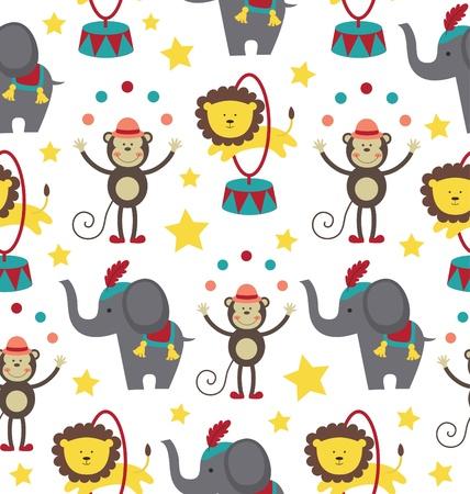repeat: circus pattern design. vector illustration Illustration