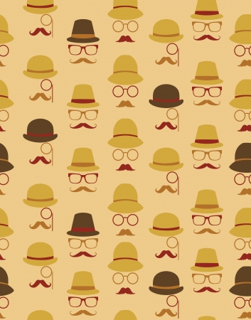 mustache seamless pattern design. vector illustration Vector